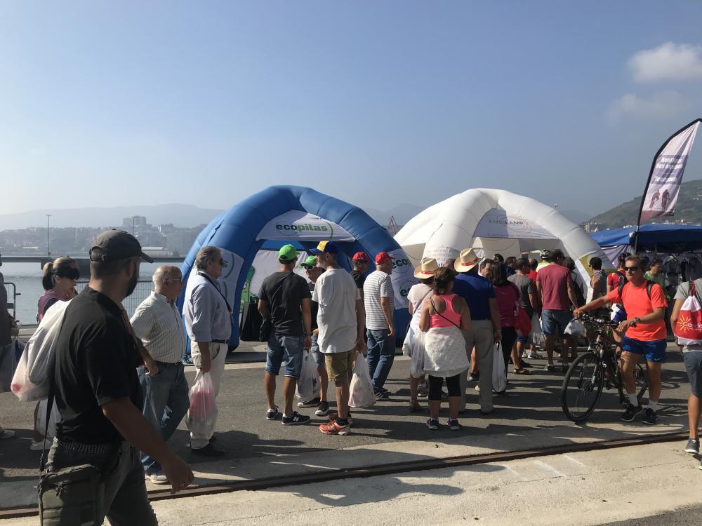 carpa ambilamp en la Vuelta 2018