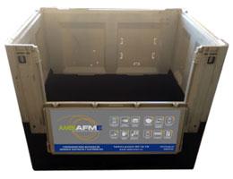 contenedor ambiafme para reciclar material eléctrico profesional