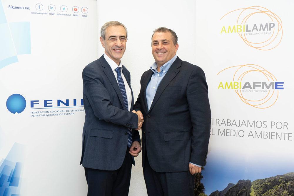 Acuerdo entre FENIE y AMBILAMP / AMBIAFME