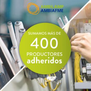 ambilamp y ambiafme logran más de 400 adheridos profesionales